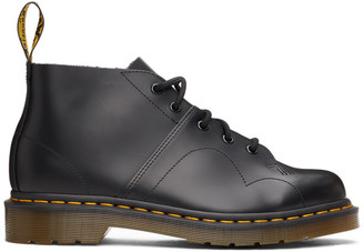 Dr. Martens Black Leather Church Monkey Boots