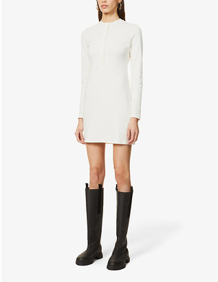 Reformation Tam button-up organic cotton-blend mini dress