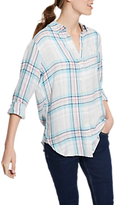 Joules Laurel Long Sleeve Check Shirt, Pink/Black Check