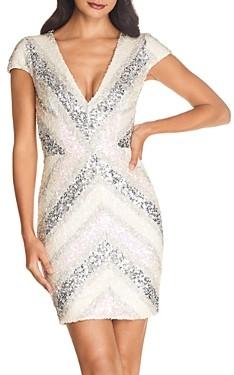 Dress the Population Zoe Sequined Mini Dress