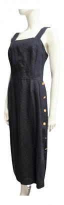Max Mara Navy Linen Dresses