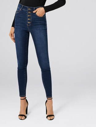 Forever New Heidi High Rise Ankle Grazer Jeans - AMSTERDAM BLUE - 16
