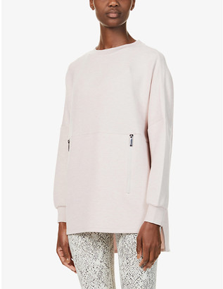 Varley Bayliss marl-pattern stretch-woven sweatshirt