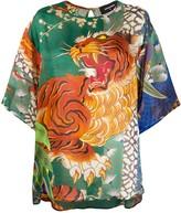 DSQUARED2 graphic print blouse