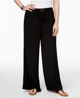 NY Collection Petite Pull-On Palazzo Pants