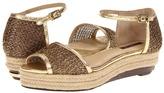 Rachel Zoe Abby (Gold Metallic Knit Fabric) - Footwear