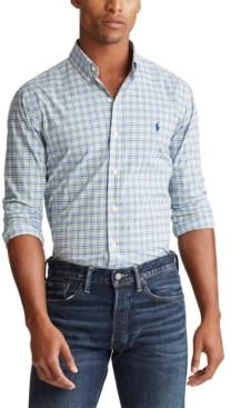 Polo Ralph Lauren Men's Big & Tall Classic Fit Plaid Oxford Shirt