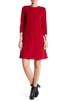 Bobeau 3/4 Sleeve Textured Pocket Dress