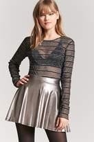 Forever 21 Metallic Skater Skirt