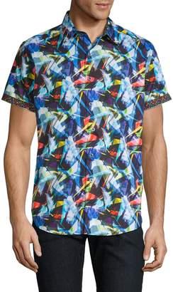 Robert Graham Multicolored-Print Cotton Button-Down Shirt
