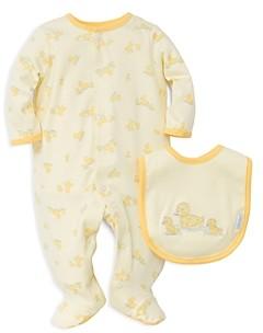 Little Me Unisex Little Ducks Footie & Bib Set - Baby