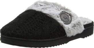 Dearfoams Women's Chenille Knit Clog Open Back Slippers