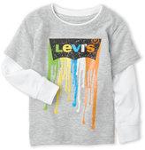 Levi's Infant Boys) Dripping Long Sleeve Tee