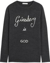 Bella Freud Ginsberg Is God Merino Wool Sweater - Charcoal