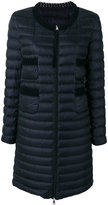 Moncler collarless padded coat - women - Feather Down/Polyamide - 1