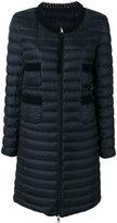 Moncler collarless padded coat