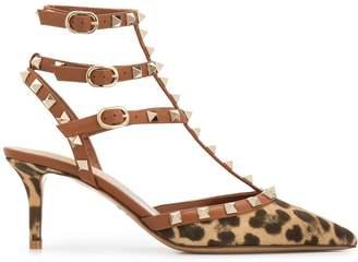 Valentino Garavani Rockstud 70 leopard pumps