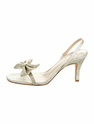 Maryam Nassir Zadeh Leather Round-Toe Sandals w/ Tags Beige
