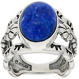 American West As Is Sterling Oval Denim Lapis Ring