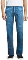 PRPS Barracuda Bleach-Splatter Denim Jeans, Dark Blue