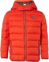 Armani Junior Boys Hooded Padded Zip Up Coat