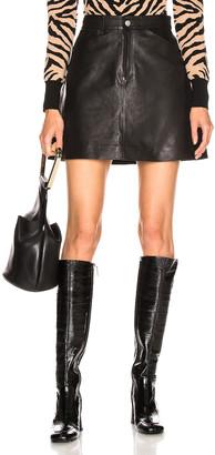 Sprwmn A Line Skirt in Black | FWRD