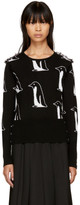 Thom Browne Black Cashmere Penguin Crewneck Pullover