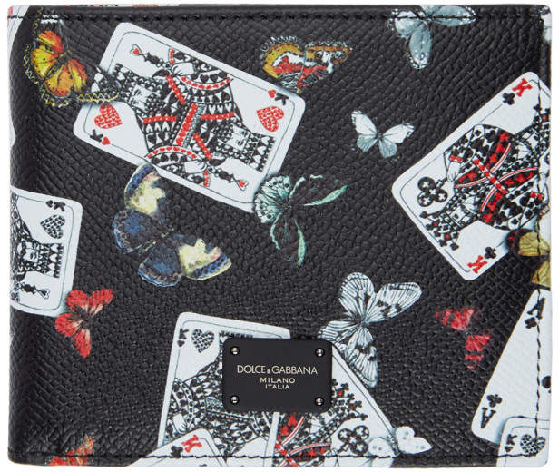 Dolce & Gabbana Black King of Hearts Wallet