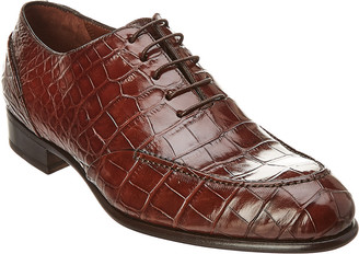 Caporicci Alligator Leather Wing Tip Oxford