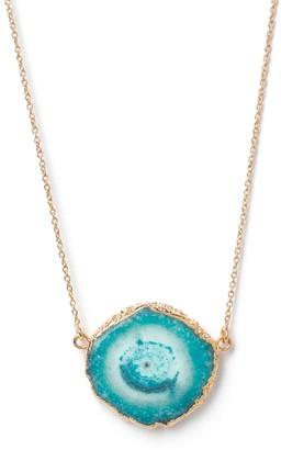 Yaa Yaa London Solar Power Turquoise Gemstone & Rose Gold Vermeil Necklace
