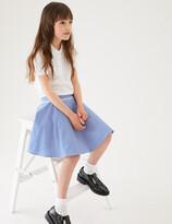 Marks and Spencer Girls' Pure Cotton Gingham Skater Skirt