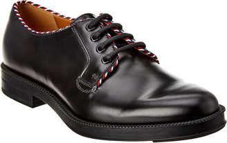 Gucci Lace-Up Leather Oxford Loafer