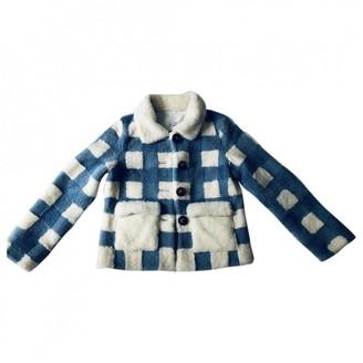 Saks Potts White Shearling Jacket for Women