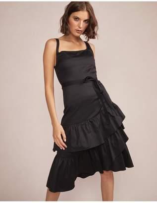 Cynthia Rowley Eva Polished Cotton Ruffle Dress