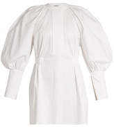 Ellery Medusa bubble-sleeved stretch-cotton mini dress