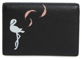 Smythson Women's Flamingo Card Case - Black