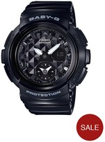 Baby-G Casio Baby G Studded Dial Black Strap Watch