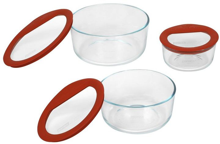 Pyrex no leak 6-pc. food storage set