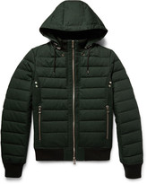 Balmain Quilted Cotton Hooded Down Jacket