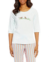 Sleep Sense Birds Raglan Jersey Sleep Top