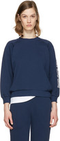 MAISON KITSUNÉ Blue Logo Sleeve Pullover