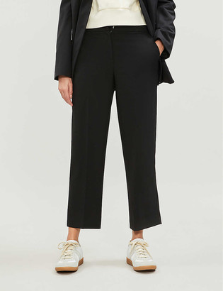 Whistles Kate woven ankle-length trousers