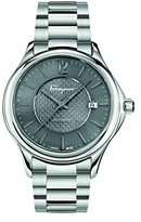 Salvatore Ferragamo Men's 'Time Automatic' Swiss Quartz Stainless Steel Casual Watch, Color:Silver-Toned (Model: FFT050016)