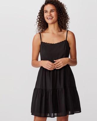 Cotton On Woven Birdie Tiered Mini Dress