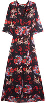Kenzo Floral-print Silk-georgette Maxi Dress - Red