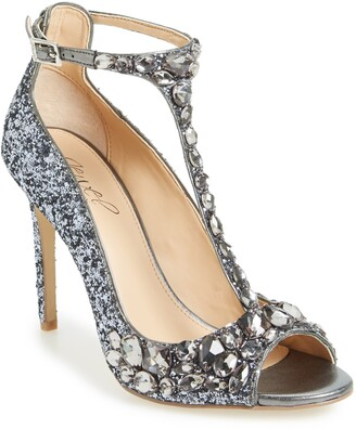Badgley Mischka Conroy Embellished T-Strap Pump