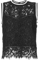 Veronica Beard lace detail tank top - women - Cotton/Nylon/Viscose - 4