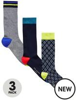 Ted Baker 3pk Geo Sock