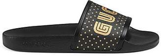 Gucci Women's Canvas Slide Sandals - Black