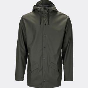 Rains Green Unisex Jacket - L/XL - Black